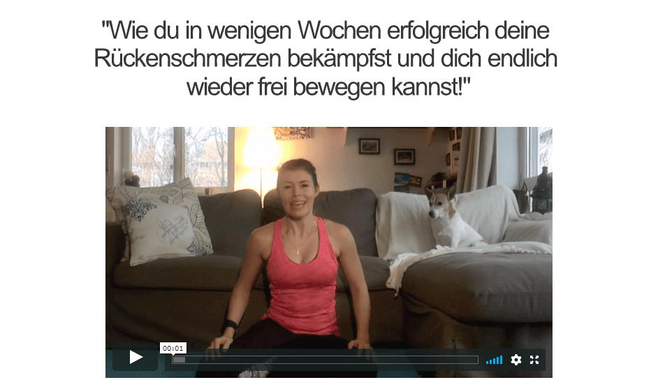 Massagegerät Rücken Video 1